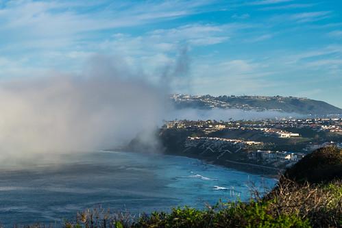 california danapoint nikon nikond5300 pacificocean beach clouds fog foggy geotagged landscape morning ocean seascape shoreline sky water unitedstates