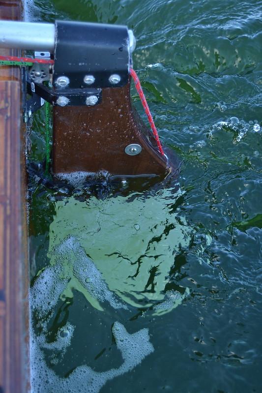 Rudder in Clear Water