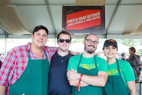 Chefs James Peisker & Chris Carter with the Porter Road Butcher team