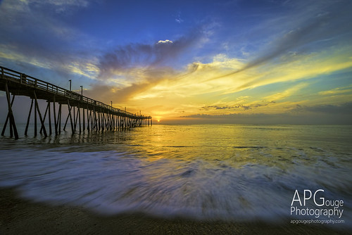 ocean sun beach clouds sunrise pier nc sand nikon north northcarolina carolina outer outerbanks banks avalon obx topaz d600 topazlabs nikond600 topazdenoise topazdetail topazclarity