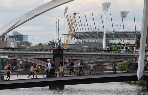 Footbridge, Princes Bridge, MCG, Melbourne