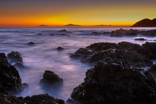bluehour coastallandscape evening islandbay landscape longexposure nature newzealand northisland owhirobay rockformations rocks sea seascape twilight waves wellington wellingtoncity nz