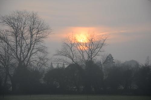 sunset misty