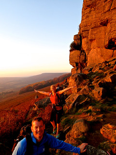 Stanage Edge in an autumnal evening