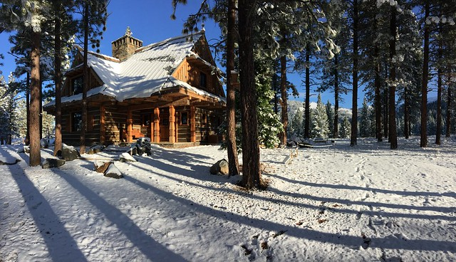 Sunny Morning and Snow