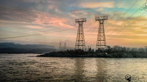 morning sky water sunrise reflections landscape early us unitedstates dam towers maryland darlington conowingo conowingodam iphone6