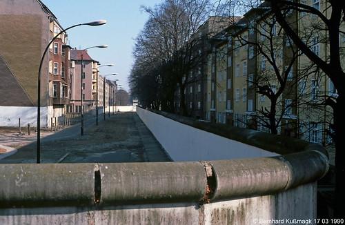Europa, Deutschland, Berlin, Neukölln, Bouchéstraße Ecke Harzer Straße, Blick nach Treptow