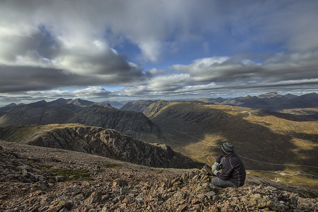 Sat About Doing Nothing as Usual shot from the summit  of Stob Dearg Glencoe Scotland 10/2016