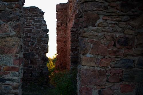 co us story ghost castle ruins autumn stone walls dawn sunrise light