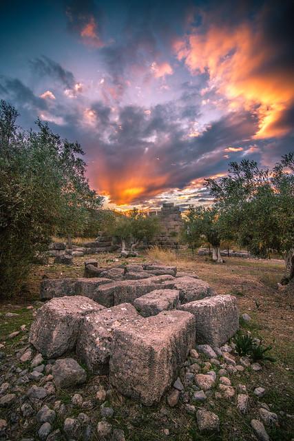A part of the 4-3 BC fortress in Porto Germeno,Greece.