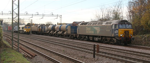 57303 + 57007 and 66 558 Witham DGL