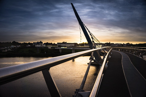 morning bridge water sunrise peace sony londonderry walkway derry foyle a5000