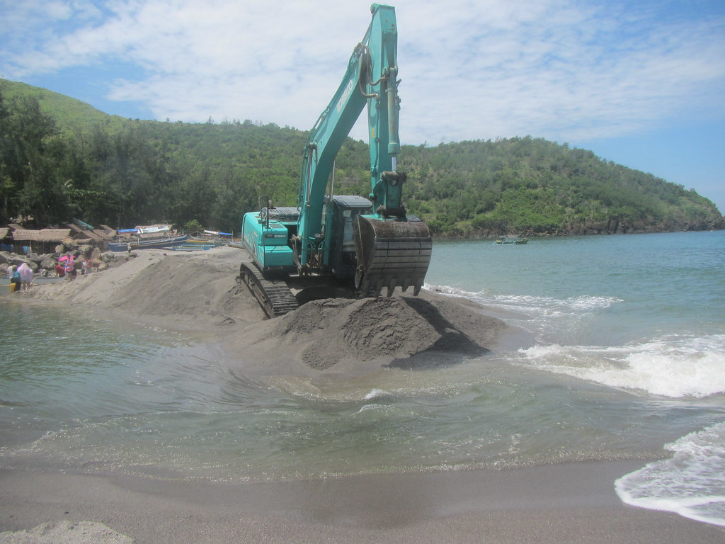 Excavator on Beach