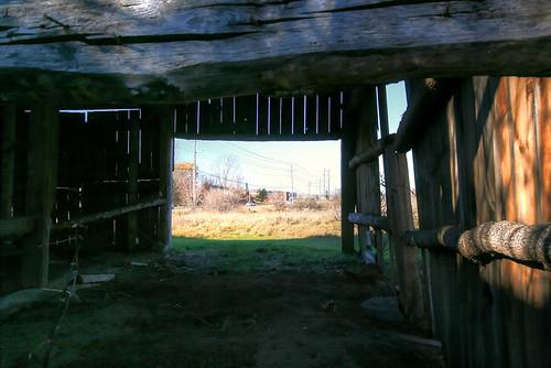 door new old barn contrast progress change