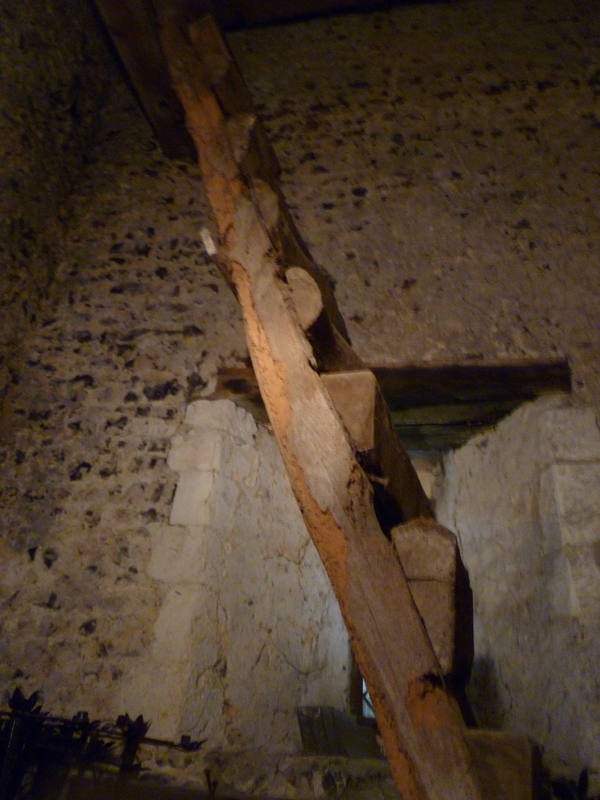 Retired Ladder in Belltower, St Mary Magdalene, Cobham SWC Walk 173 Cuxton to Halling