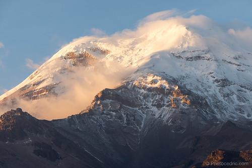 america amerique andes chimborazo ecuador equateur mountain neige snow south southamerica sud sunset sur volcan volcano bolívar ec