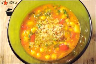 minestra marocchina di ceci con quinoa senza glutine | by mammadaia