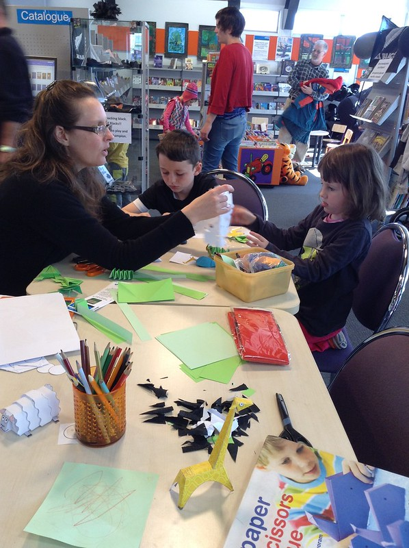 Kids and paper crafts