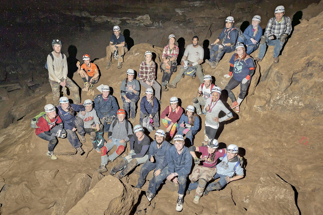Texas A&M's Biospeleology Class Fall 2015, Indian Grave Point Cave, Dekalb County, Tennessee
