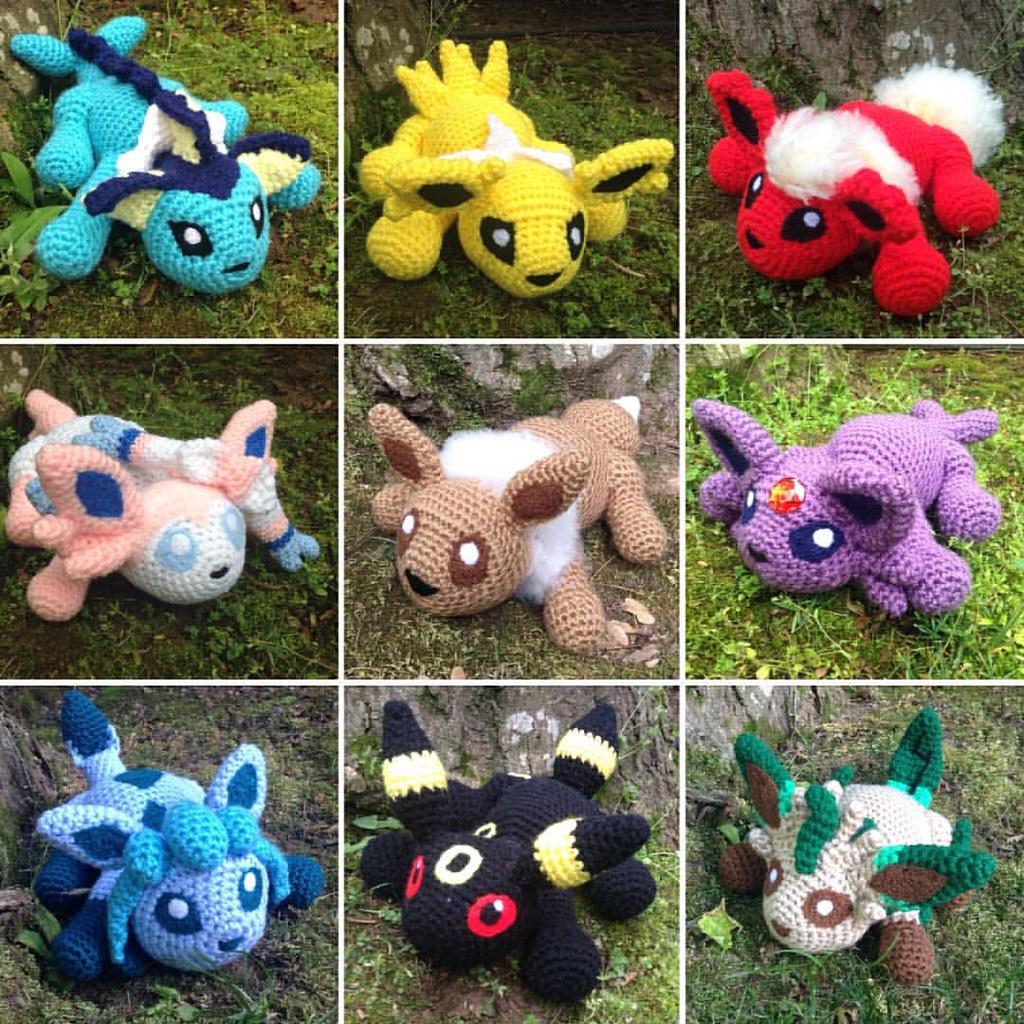 umbreon amigurumi - crochet plush pokemon eeveelution plushie ... | 1024x1024