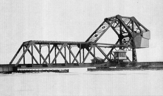 Erie Railroad HX Draw at Hackensack River, 1911 Strauss Bascule Bridge Co. press photo