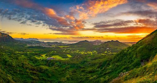 panorama hawaii oahu nuuanupali kaneohebay nuuanupalilookout