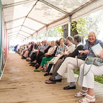 Enjoying the wait | Queuing for your next Book Festival event's not so bad when you have a pal  © Alan McCredie
