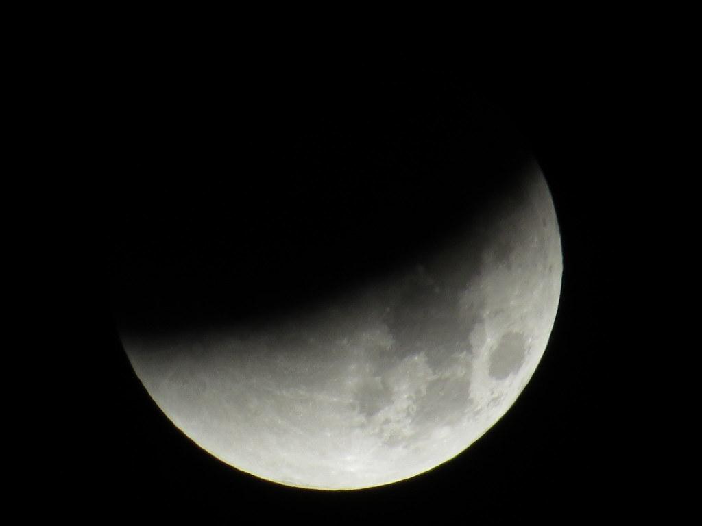 lunar eclipse 28. September 2015 view at 0139 UTC
