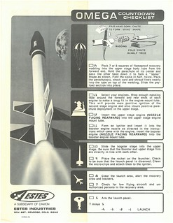 Estes OMEGA (K-52P)(BNC-60AH) Countdown Checklist | by Model Rockets Rock!