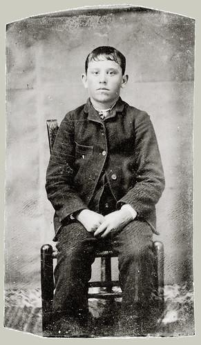 Tintype Boy on Chair