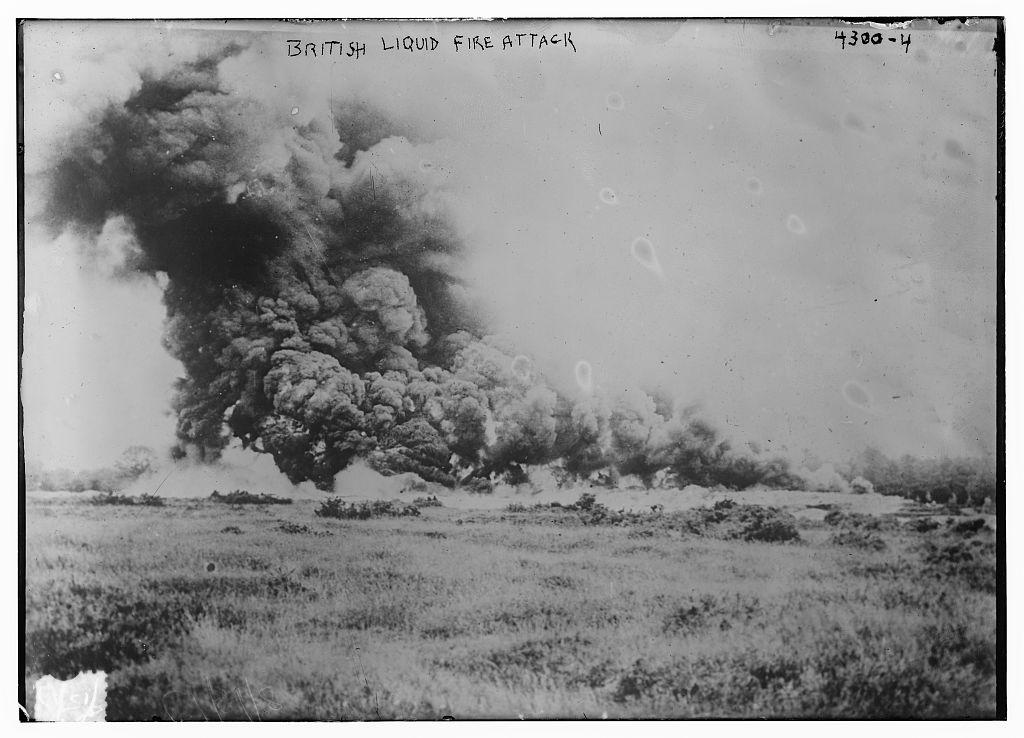 British liquid fire attack (LOC)