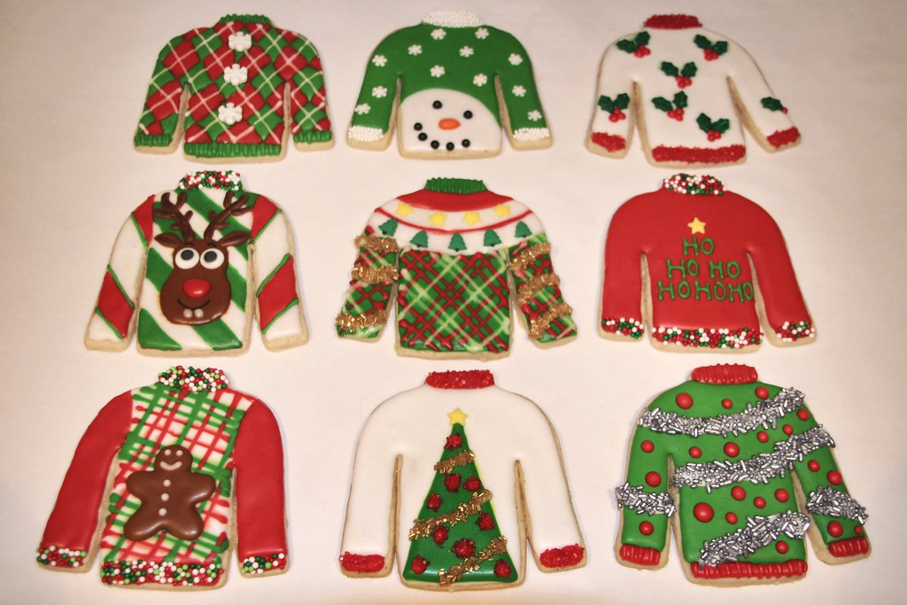 Ugly Christmas Sweater Cookies Nadia Bakes Flickr