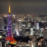 女性に対する暴力をなくす運動2015 パープルライトアップの東京タワーです〜♪♪(^o^)/