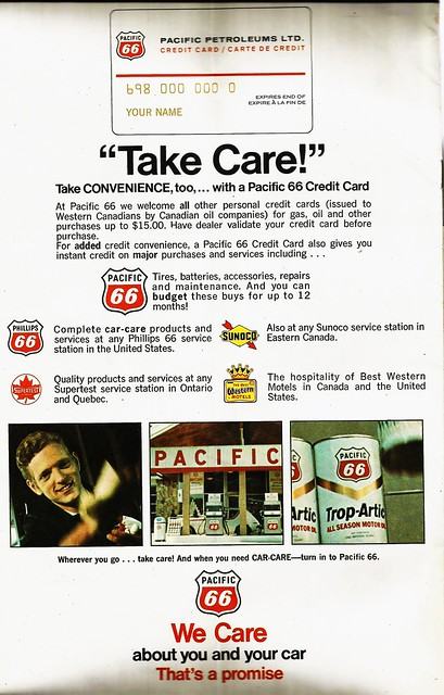 Pacific 66 Canadian ad, 1971