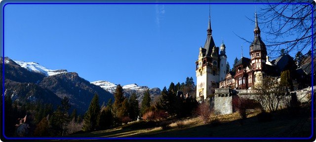 Winter at Peles Castle, Bucegi mountains