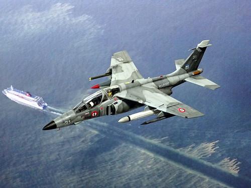 1:72 Dassault/Dornier 'Alpha Jet Lancier M'; aircraft '31' of the Aéronavale's (French Navy) Escadrille 59S; Base d'aéronautique navale d'Hyères, 1996 (Whif/modified Heller kit) | by dizzyfugu