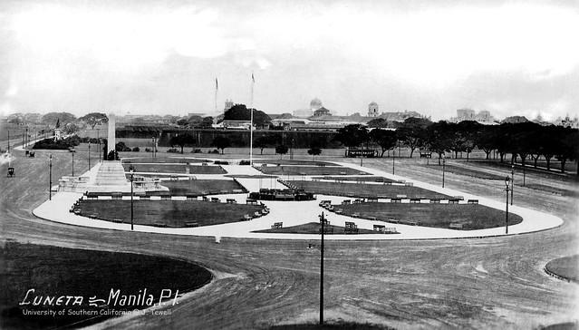 Rizal Monument, Luneta Park, Intramuros, Manila, Philippines, 1920s-1930s