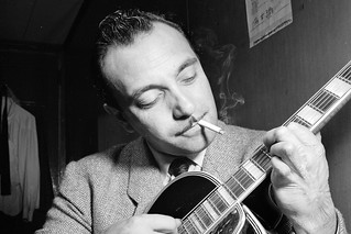 Django Reinhardt at the Aquarium jazz club in New York, NY, c. November 1946. Photograph by William P. Gottlieb | by Royal Opera House Covent Garden