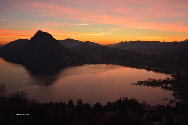 Golfo di Lugano - Tramonto