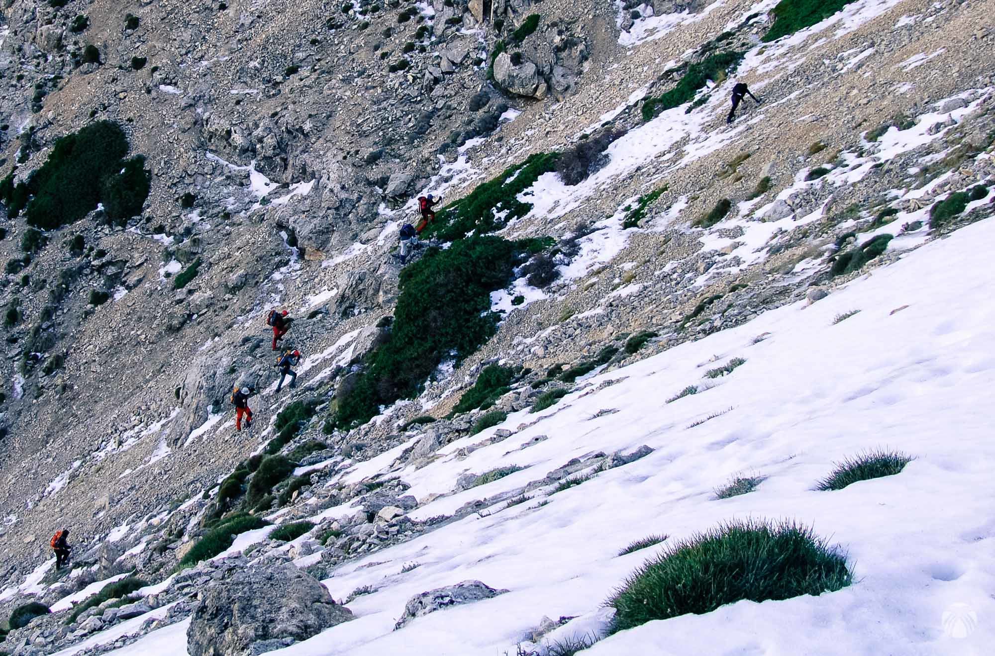 Buscando los mejores pasos y evitando el hielo