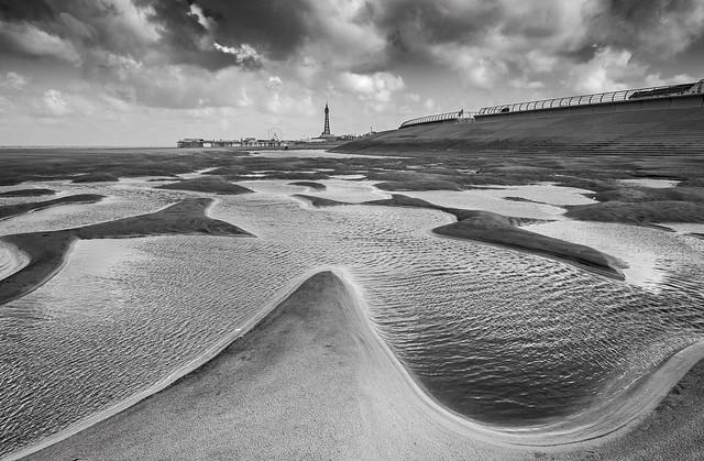 Blackpool Beach View #2 (Mono).
