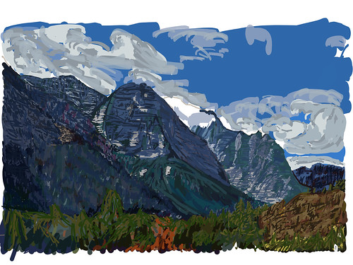 blueskieswithclouds dustystarmountain glaciernationalpark goingtothesunroad littlechiefmountain lookingsw mahtotopamountain mountains mountainsoffindistance nature redeaglemountain trees watertonglacierinternationalpeacepark worldheritagesite ipaddrawing digitalpainting adobedraw adobeillustratordraw ipad artdigital outdoor outside rockymountains centralmontanarockymountains glaciernationalparkranges lewisrange centrallewisrange browning montana unitedstates
