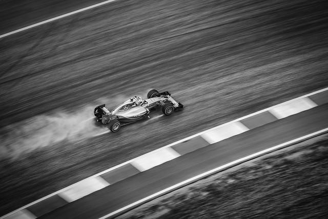 Nico Rosberg in the rain