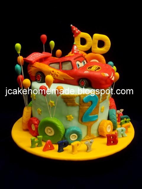 Lightning McQueen cake 闪电麦昆蛋糕