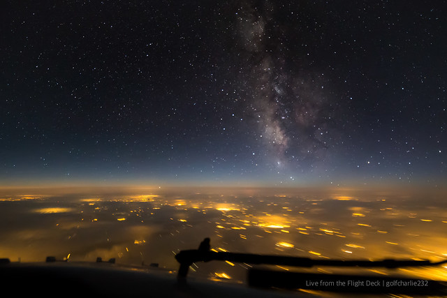 Milky Way from a plane