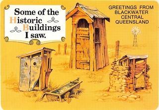 Comic postcard for Blackwater, Qld - 1988