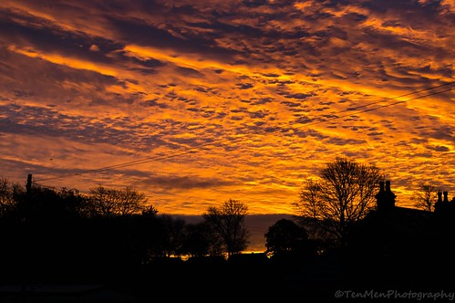 chimney house tree weather silhouette clouds sunrise yorkshire