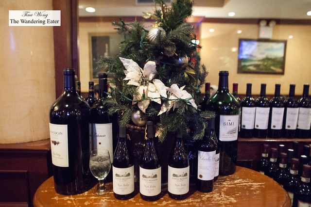 Table full of wine