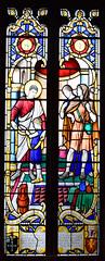 St Luke heals a sick child (Francis Skeat, 1965)