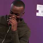 George The Poet | George's inspirational, honest and infectiously rhythmic words had everyone mesmerised during his Book Festival event © Helen Jones